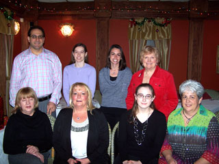 Staff Christmas Party 2011 at Milano Grille. (Sara is missing from photo.)